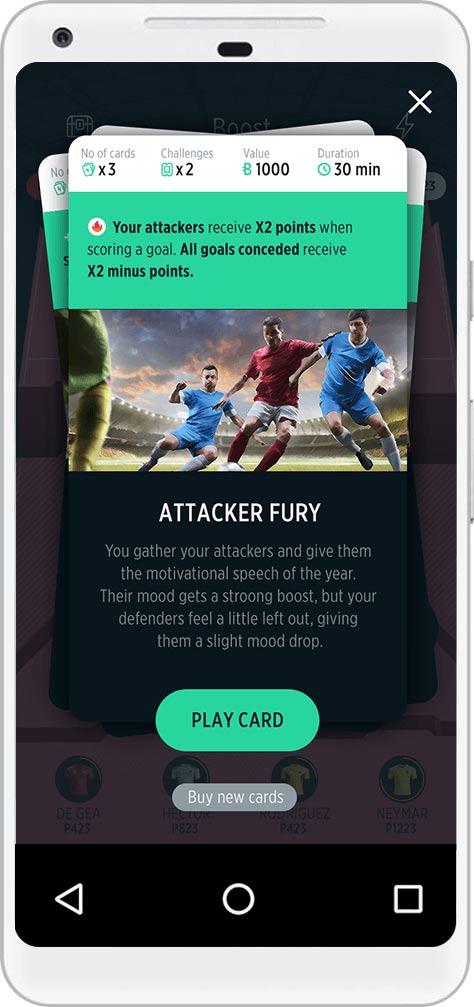 TrophyRoom Football Game - Booster Cards