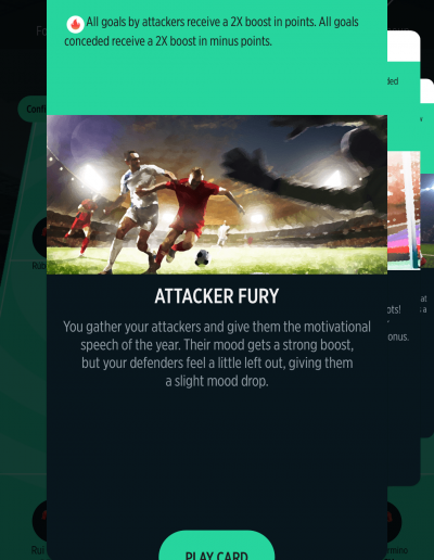 Attacker Fury Card