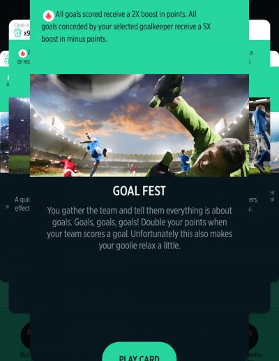 Goal Fest Card