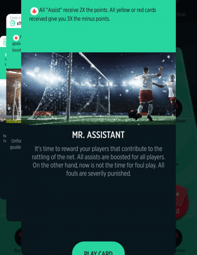 Mr Assistant Card