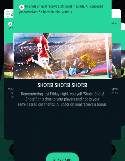 Shots! Shots! Shots! Card