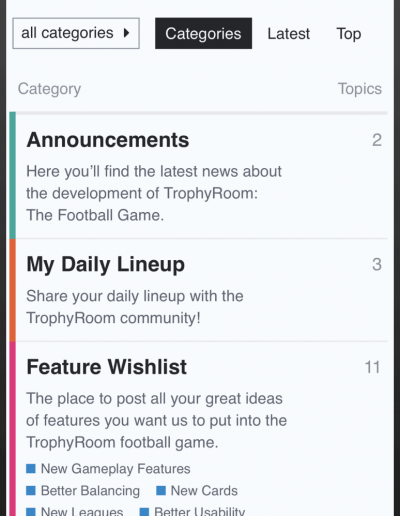 TrophyRoom - The Fantasy Football Game - Community