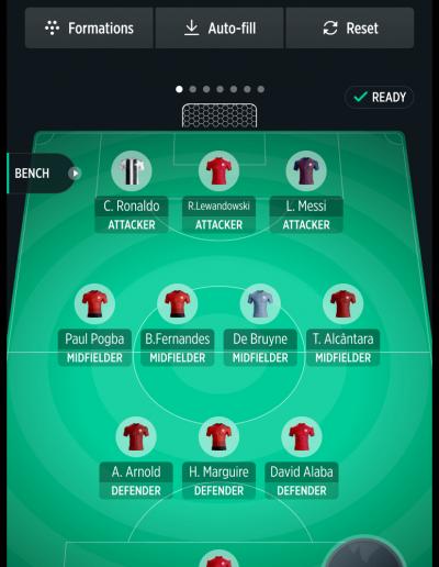 TrophyRoom - The Fantasy Football Game - My Team