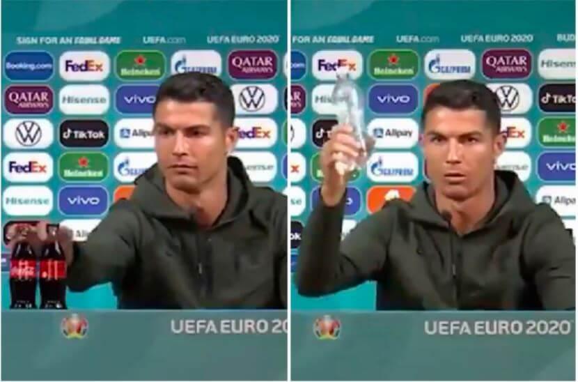 Christiano Ronaldo with Coca cola