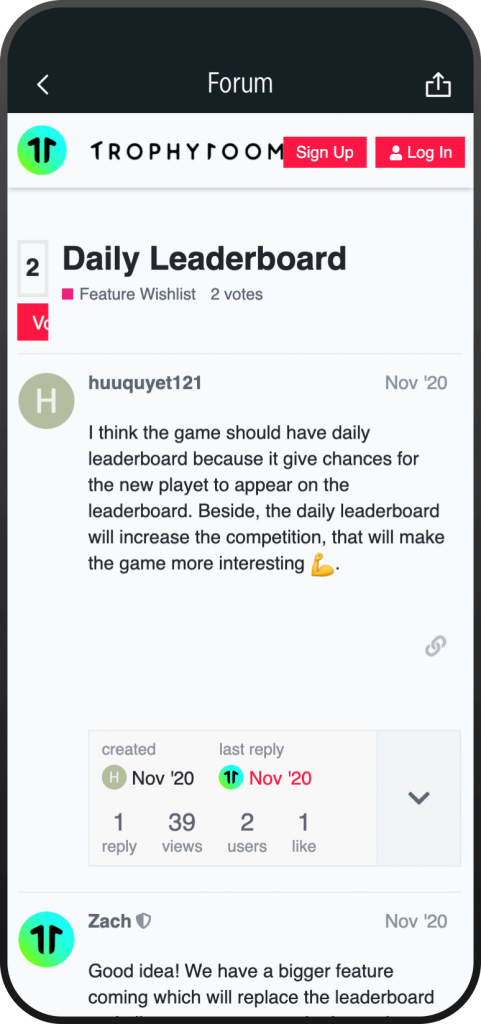 TrophyRoom - The Fantasy Football Game - Request new features